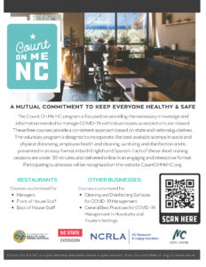 Count On Me NC informational flyer